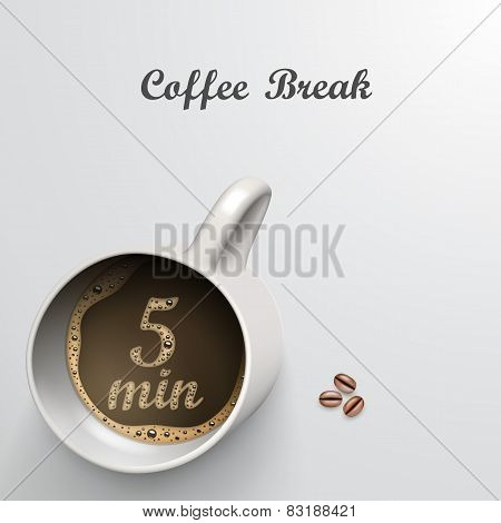 Cup with a time of minutes break