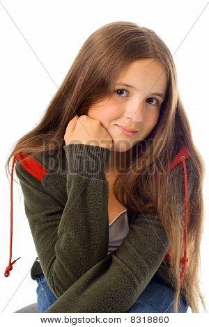 Portrait Of Teenager Girl