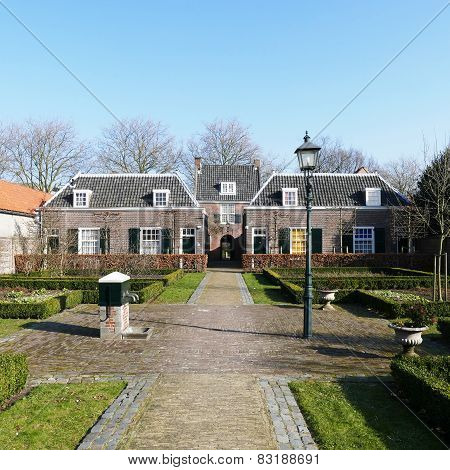 Netherlands - Delft - Circa January 2015: Hofje Of Pauw.