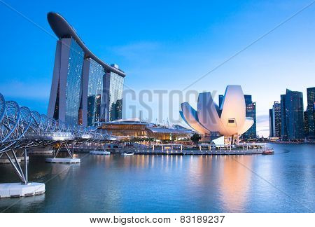 Marina Bay area, Singapore.