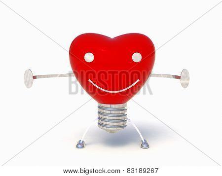 Heart bulb 3d