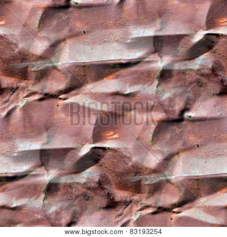 seamless dent background blue rusty metal