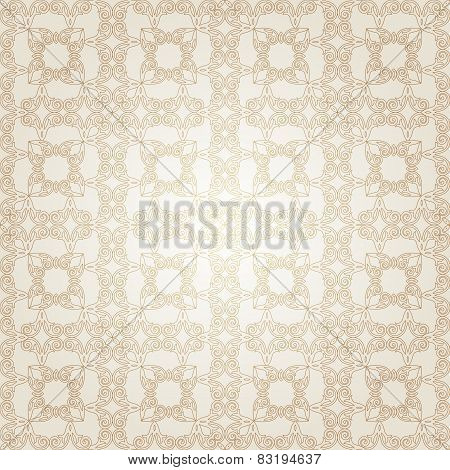 Vector seamless pattern in Victorian style.