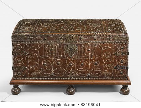 Trunk Chest Old Antique
