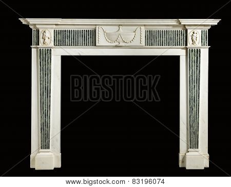 Fire Place Surround Marble Isolated