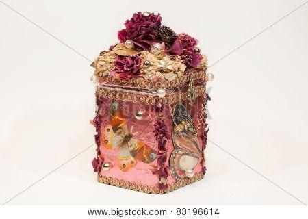 Beautiful handmade pink casket