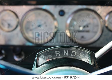 Antique Truck Gear Shift Driving Panel