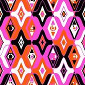 foto of motif  - Vector seamless ethnic pattern with Uzbek - JPG