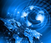 foto of globalization  - Best Internet Concept of global business from concepts series - JPG