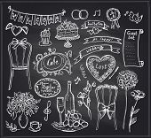 foto of banquet  - Chalkboard wedding banquet elements  - JPG