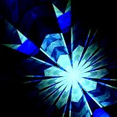 foto of neutrons  - Abstract futuristic blue burst background - JPG