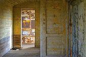 image of fragmentation  - Fragment vintage and old room on the train - JPG