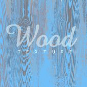 picture of wooden fence  - Wood texture template in blue colors - JPG