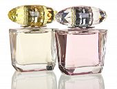 image of perfume  - glass bottles of perfume isolated on a white background - JPG