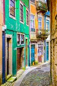 pic of quaint  - Quaint alleyway scene in Porto - JPG