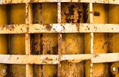 pic of formwork  - Rusty metal formwork used for building the concrete constructions - JPG