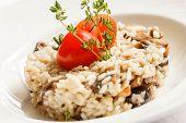 image of portobello mushroom  - risotto with mushrooms - JPG