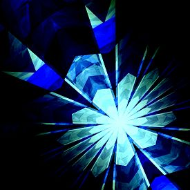 foto of neutron  - Abstract futuristic blue burst background - JPG