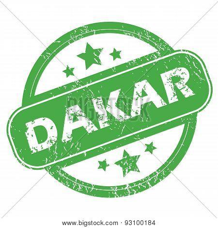 Dakar green stamp