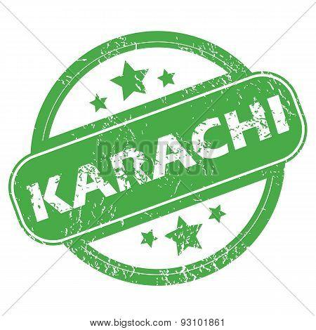 Karachi green stamp