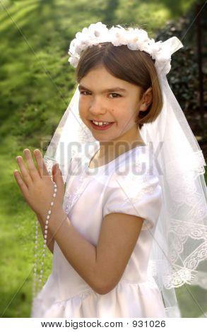 Erste Heilige Kommunion-Portrait