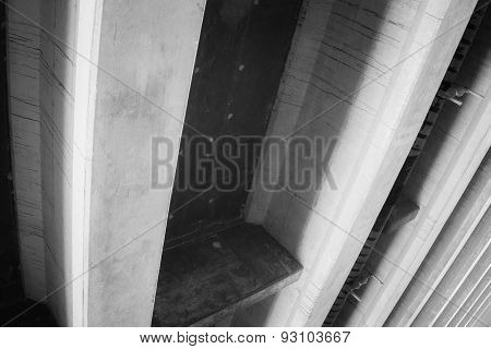 Cement Supports Of Overpass