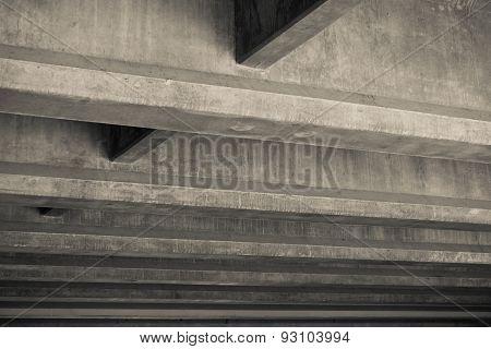Cement Lines Under Overpass