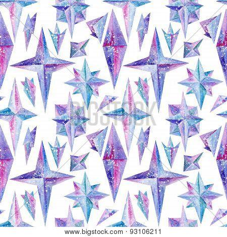 Crystal Watercolor Pattern