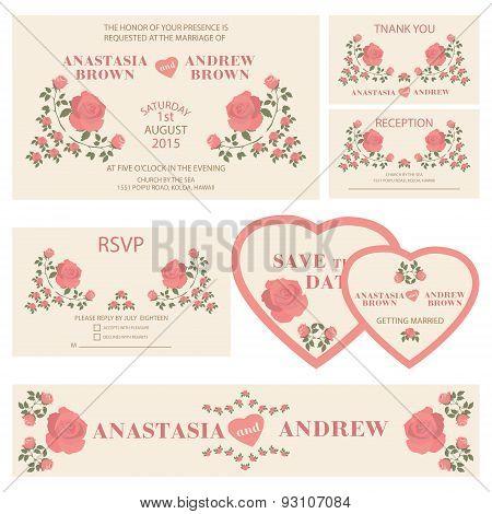 Wedding invitation.Wedding  collection