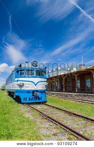 Railway Station Museum Building And Locomotive, Haapsalu, Estonia
