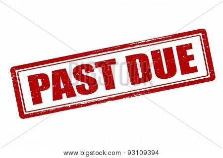 Rubber stamp with text past due inside vector illustration