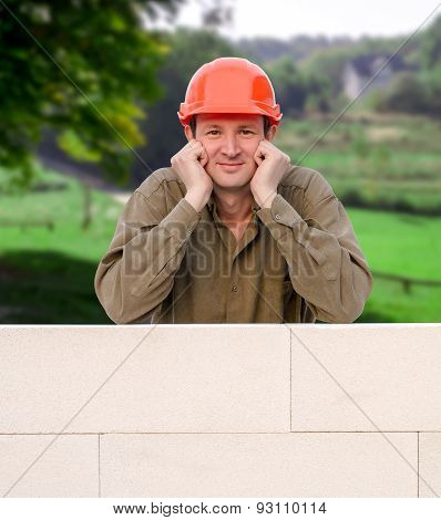 Builder With Hard Hat
