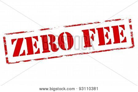 Rubber stamp with text zero fee inside vector illustration