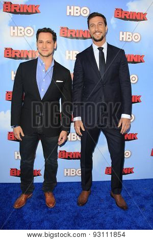 LOS ANGELES - JUN 8:  Matt McGorry, Pablo Schreiber at the HBO's