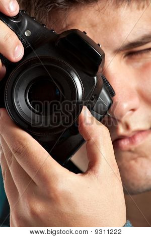 Teenager Taking Pictures