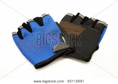 Cycling Gloves On White Background