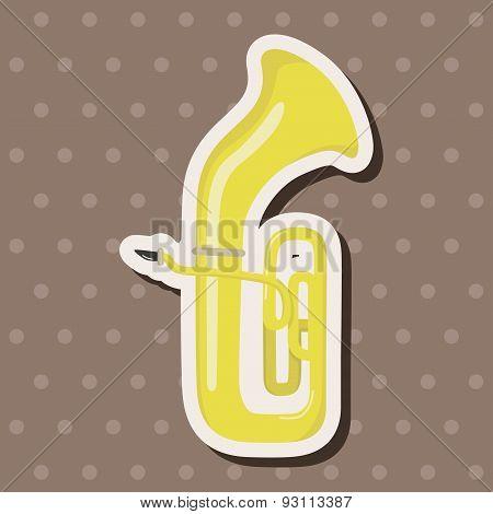 Instrument Trumpet Cartoon Theme Elements