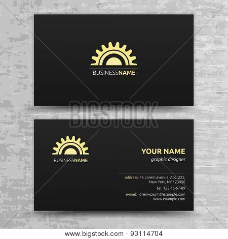 Modern Business Cards Templates Set