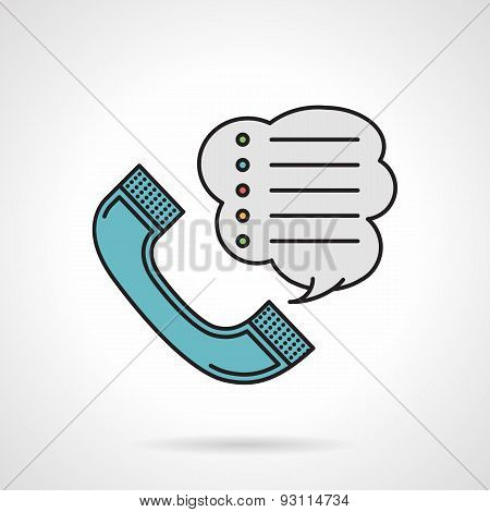 Order by phone flat color vector icon