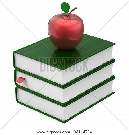 Books Green Blank Bookmark Textbooks Stack Apple Red Icon