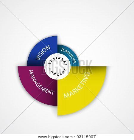 Presentation Template And Business Management Concept. Can Be Used For Workflow Layout, Banner, Web