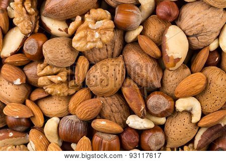 Variety Of Mixed Nuts