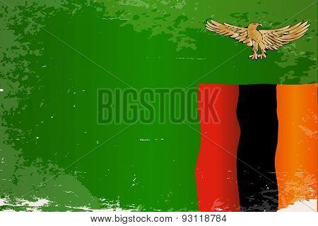 Zambia Grunge Flag