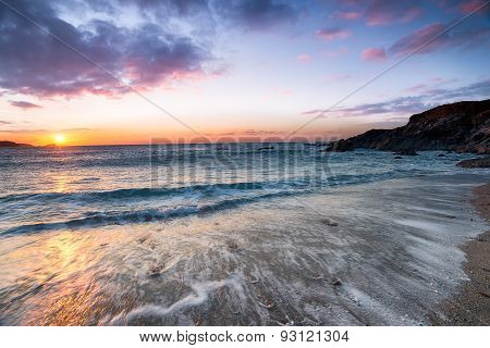 Newquay Beach Sunset