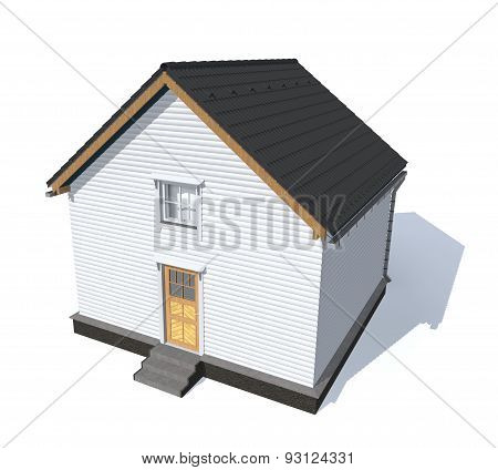Architecture Model House Isolated In White