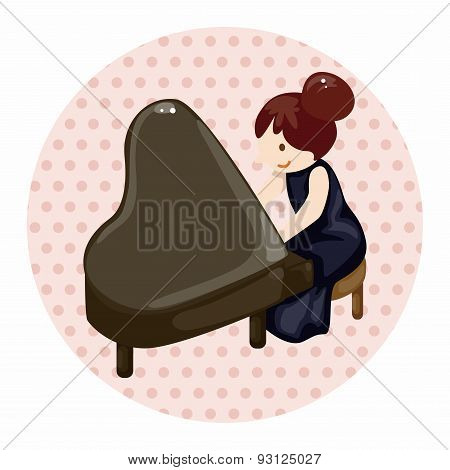 Character Musician Pianist Theme Elements