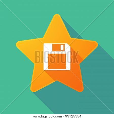 Star Icon With A Floppy Disk