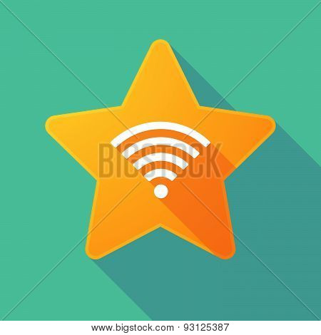 Star Icon With A Radio Signal Sign