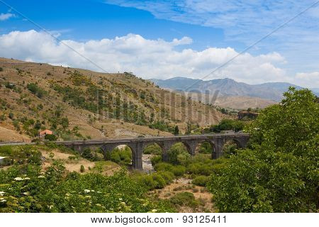 Railroad Viaduct In Randazzo, Sicily