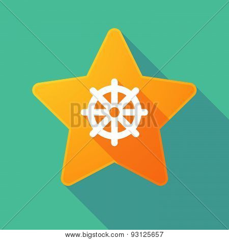 Star Icon With A Dharma Chakra Sign